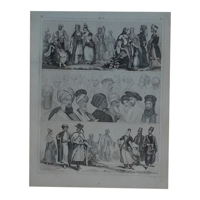 Antique Print Different Races & Cultures - Image 1 of 3