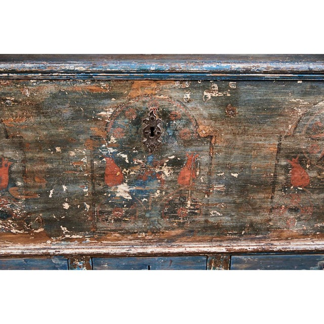 Brass Pennsylvania Blanket Box/ Dowry Chest For Sale - Image 7 of 9