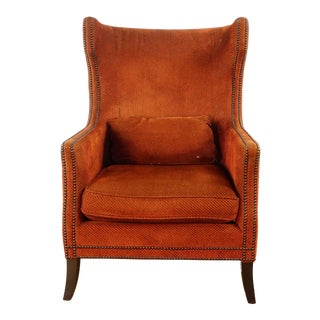 Traditional Bernhardt Furniture Upholstered Armchair For Sale