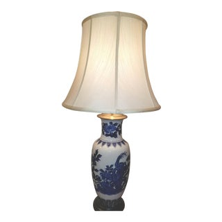 Chinese Blue and White Table Lamp