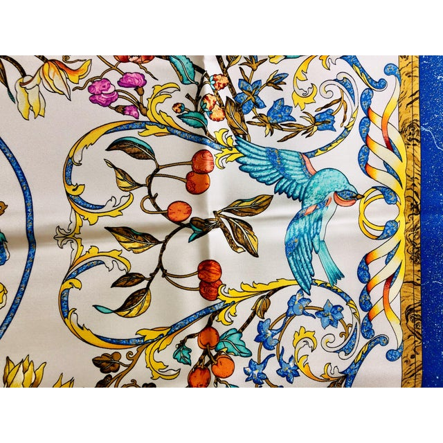 1980s Hermès Pierres D'Orient Et D'Occident Silk Scarf For Sale - Image 5 of 7