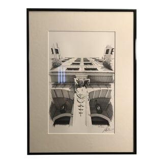 """Original """"Country Club Manor Column"""" Signed Lithographic Print by Jeff DiCicco For Sale"""