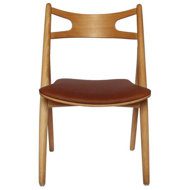 1970s Scandinavian Modern Hans J. Wegner Sawbuck Chair For Sale - Image 10 of 10
