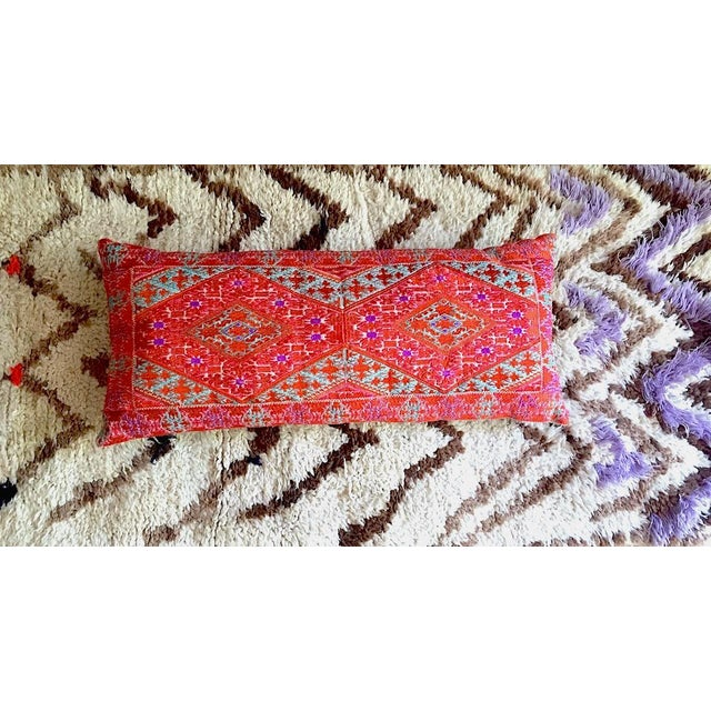 2010s Swati Embroidered Lumbar Pillow For Sale - Image 5 of 5