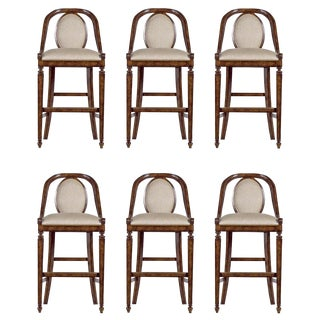 Stanley Furniture Arrondissement Parc Bar Height Stool Chairs Set of 6 For Sale