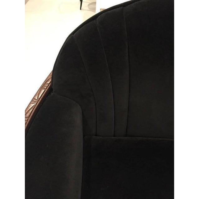 Brown American Art Deco Sofa and Club Chair For Sale - Image 8 of 10