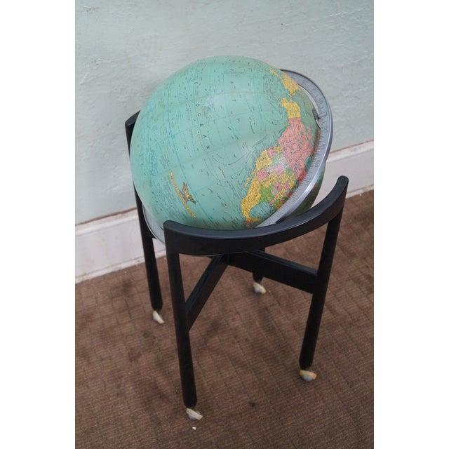 Jens Risom Hans Knoll Mid-Century Wood Frame Globe For Sale - Image 5 of 10