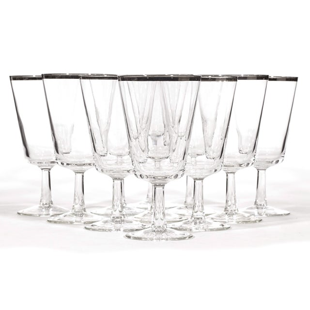1960's Silver-Rim Water Stems - Set of 11 - Image 2 of 4