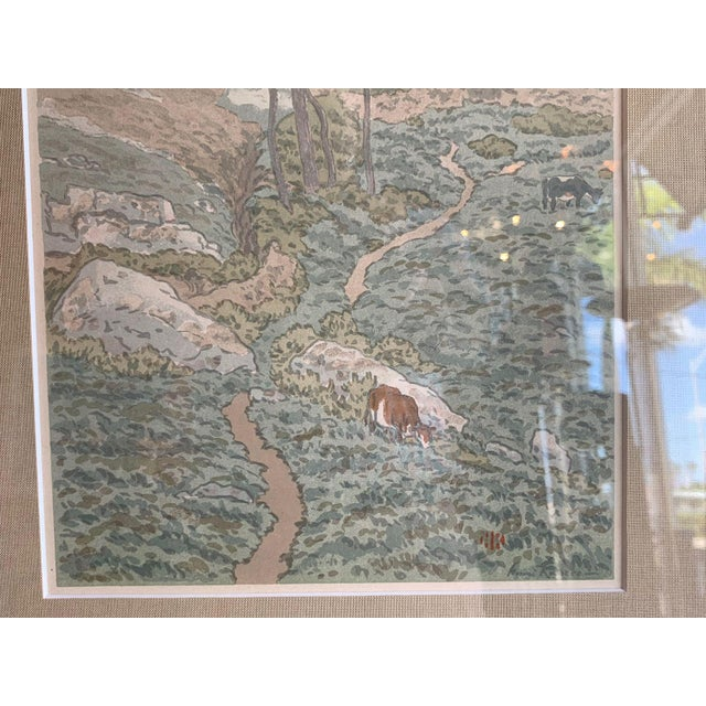19th Century Art Nouveau Henri Riviere Print Brittany For Sale - Image 4 of 8