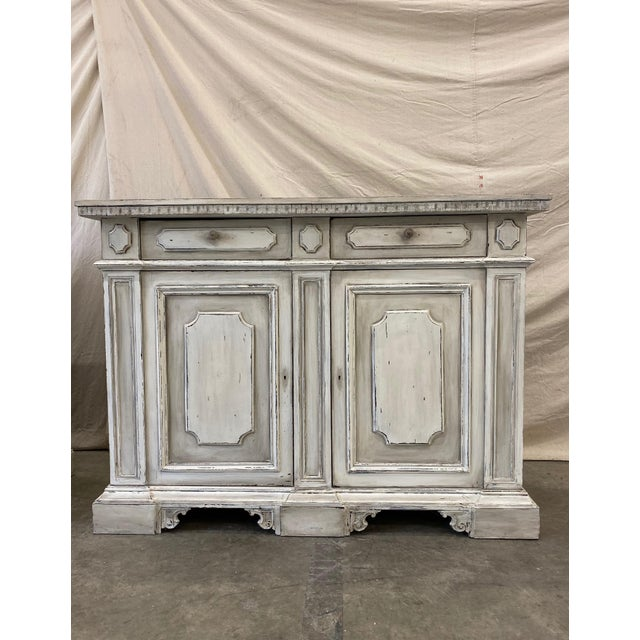Italian Painted Buffet Cabinet For Sale - Image 10 of 10