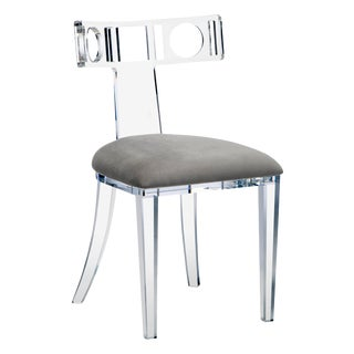 Ardsley Acrylic Klismos Chair For Sale