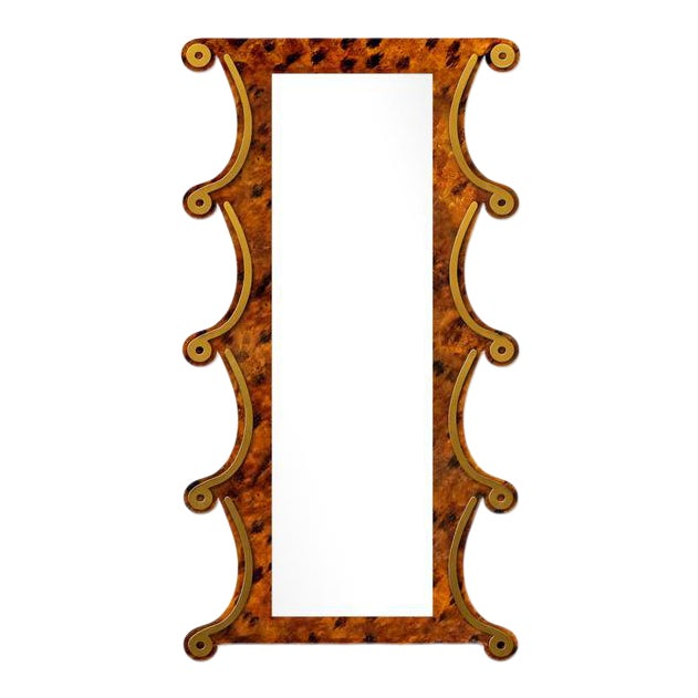 Fleur Home x Chairish Voodoo Mirror in Tortoise, 42x84 For Sale