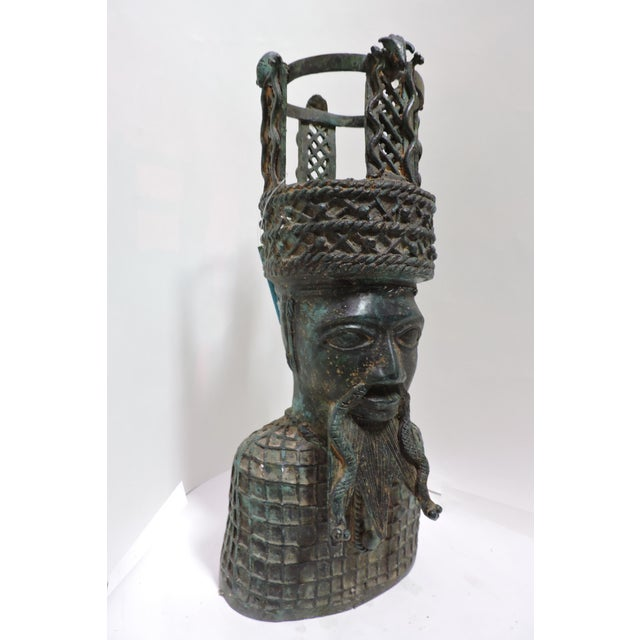 Benin has a long history of forging bronze into effigies and statuary dating to the 13th Century. This depiction of a...