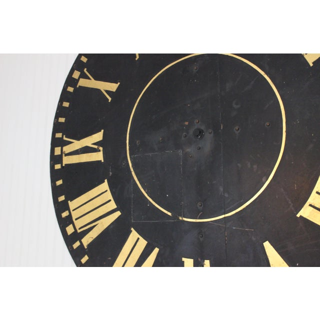 Mid 20th Century Monumental Tower Clock Face For Sale - Image 5 of 8