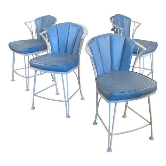 1950s Vintage Woodard Pinecrest Chairs with Original Cushions - Set of 4 For Sale