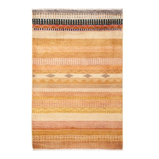 """One-of-a-Kind Bohemian Hand-Knotted Area Rug 3' 3"""" x 5' 1"""" For Sale"""