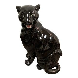 Mid Century Vintage Black Panther Figurine For Sale