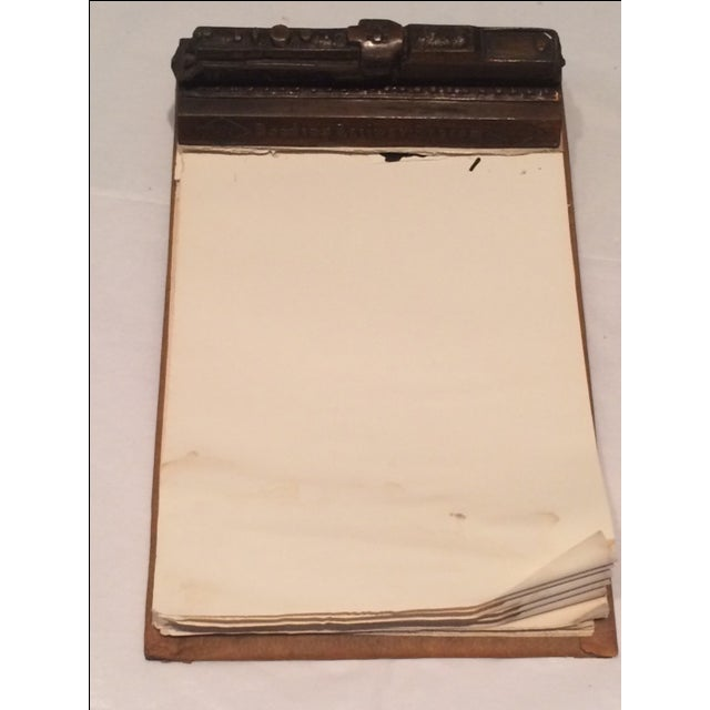 A highly collectable vintage Reading Railway Systems advertising paperweight memo pad from the 1940's. This heavy 2.5 lb....