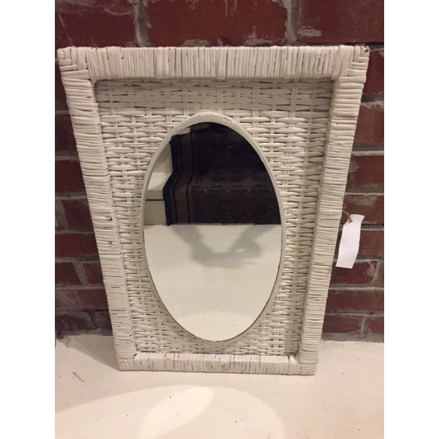 Vintage Cottage Style Wicker Mirror - Image 2 of 4