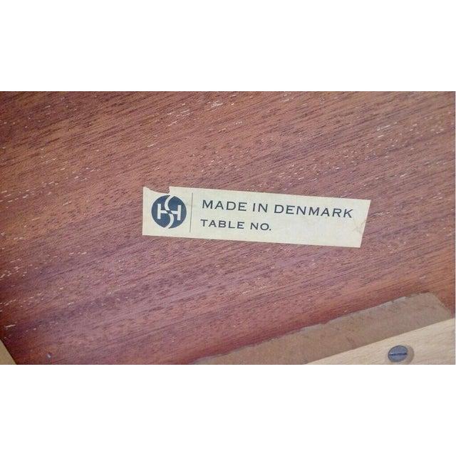 Mid-Century Modern Circa 1960 Denmark, Arne Vodder Drop Leaf Teak Student Desk for H. Sigh & Sons Mobelfabrik For Sale - Image 3 of 5