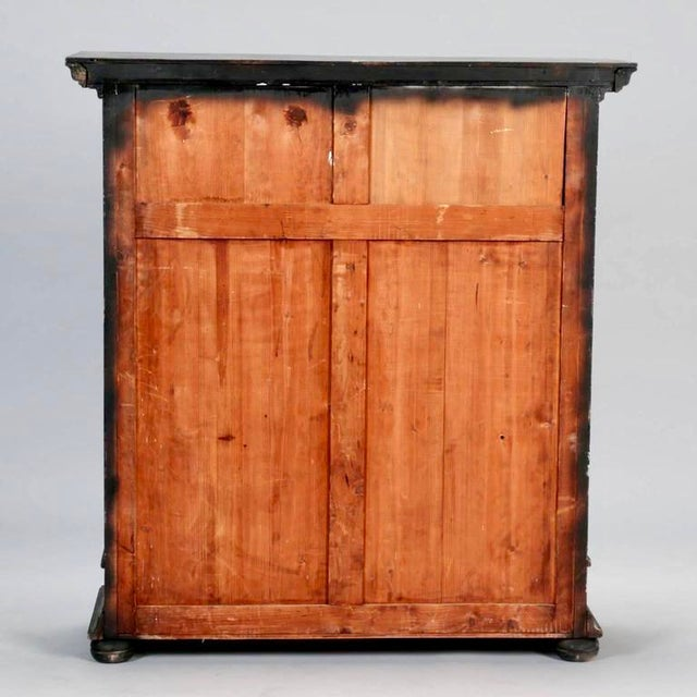 Late 19th Century Antique French Ebonized Oak Linen Chest - Image 7 of 8