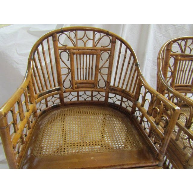 Tortoise Bent Bamboo Arm Chairs - A Pair - Image 3 of 5
