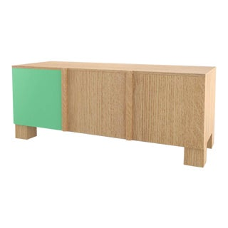 Contemporary 101C Storage in Oak and Mint by Orphan Work, 2020 For Sale