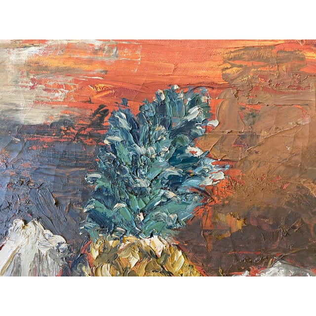 Expressionism Still Life of Fruit Oil Paining For Sale - Image 3 of 6