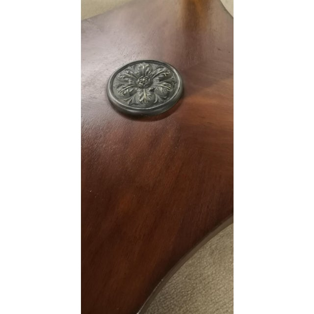 Empire Drexel Heritage Marble Top Solid Wood Square Side Table For Sale - Image 10 of 12