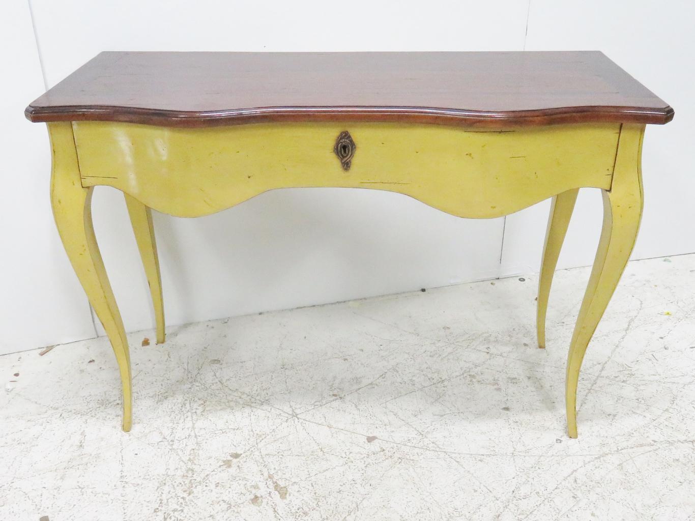French Mahogany U0026 Yellow Console Table   Image 2 ...