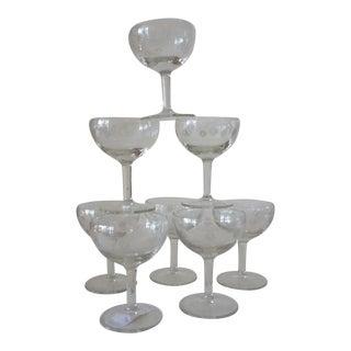 Vintage Art Deco Champagne Coups- Set of 8