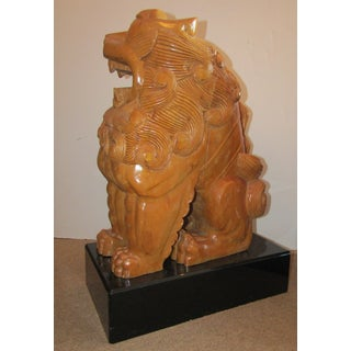 Vintage Carved Wood Foo Dogs-A Pair Preview