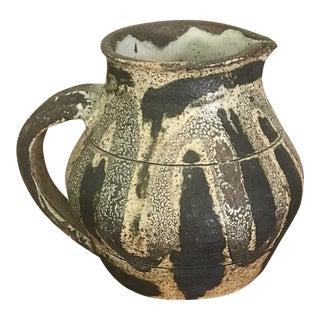 1960s Vintage Mid Century Brutalist Studio Pottery Pitcher