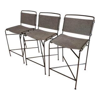 Wharton Counter Stools by Four Hands - Set of 3 For Sale