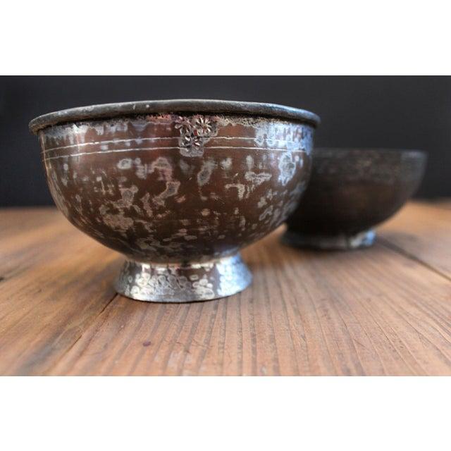 Metal Antique Ottoman-Era Copper Bowls-a Pair For Sale - Image 7 of 8