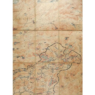 West Canada Lakes New York 1900 Us Geological Survey Folding Map For Sale
