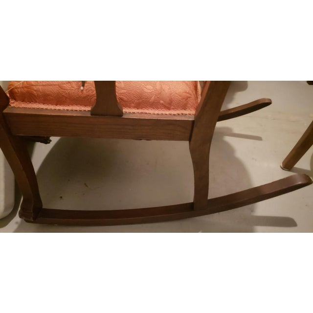 American Vintage Wooden Rocking Chair For Sale - Image 3 of 11
