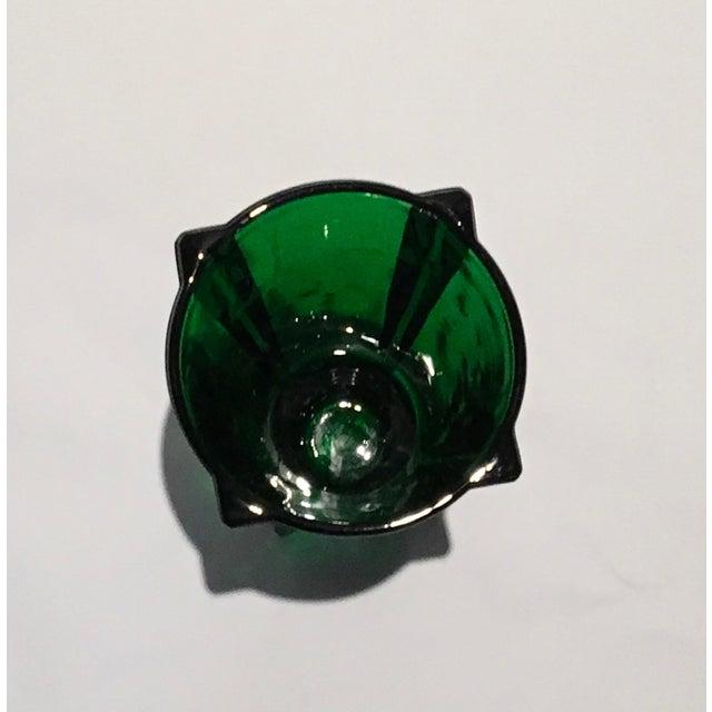 Green 1961 Vintage Anchor Hocking Glass Co. Emerald Green Atomic Rocket Vase For Sale - Image 8 of 8