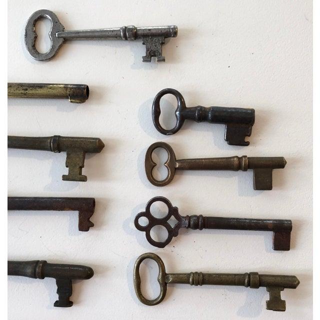 Set of 9 Antique & Vintage Skeleton and Door Keys For Sale - Image 9 of 13