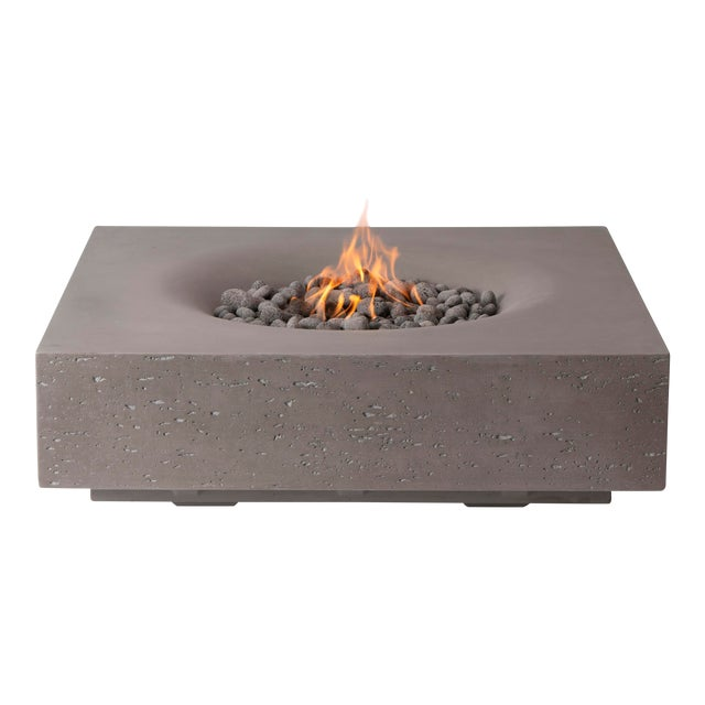 PyroMania Infinity Fire Pit Table - Slate Color, Propane For Sale