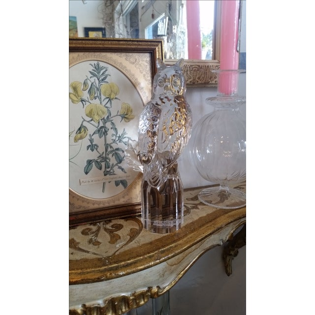 Signed Vintage Crystal Owl by Goebel For Sale - Image 5 of 5