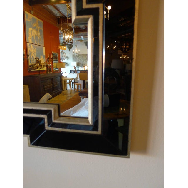 Paul Marra Design Greek Key Mirror with Black Mirror Border - Image 4 of 5