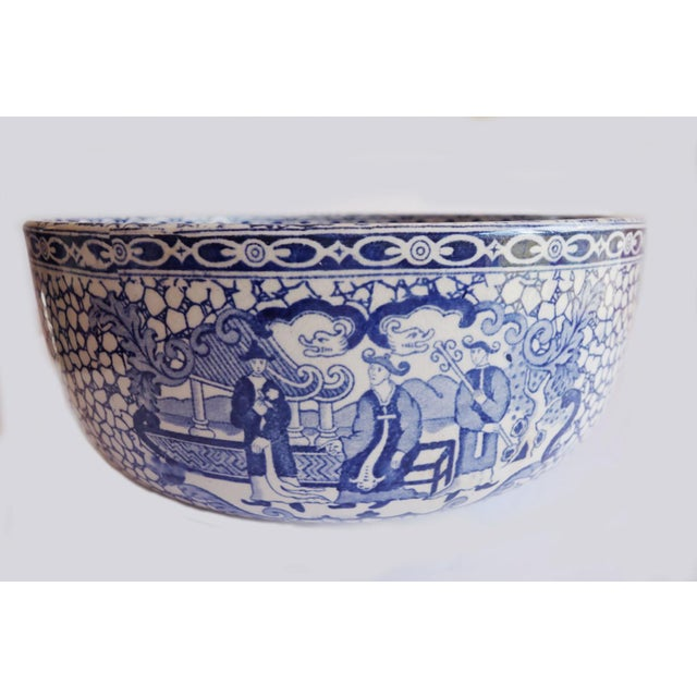 1930's Vintage William Adams Chinese Bird Pattern Bowl & Jug For Sale - Image 4 of 13