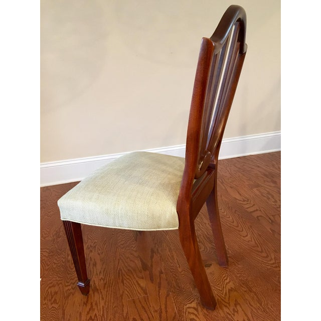 Federal Baker Shield Back Mahogany Dining Chairs - Set of 6 For Sale - Image 3 of 10
