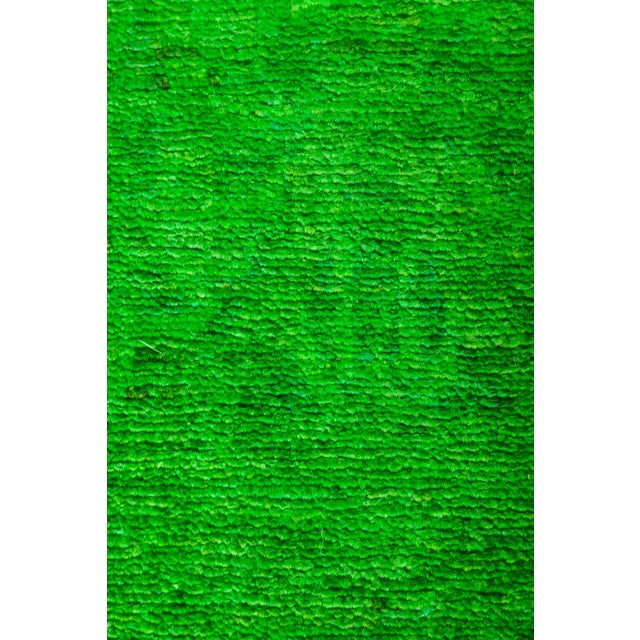 """Contemporary New Overdyed Hand Knotted Runner - 3' x 8'10"""" For Sale - Image 3 of 3"""