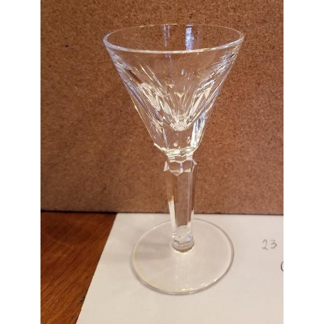 Set of 10 Vintage Waterford Shelia cut crystal cordial Glasses. Marked on base with an acid etched brand stamp Height is...