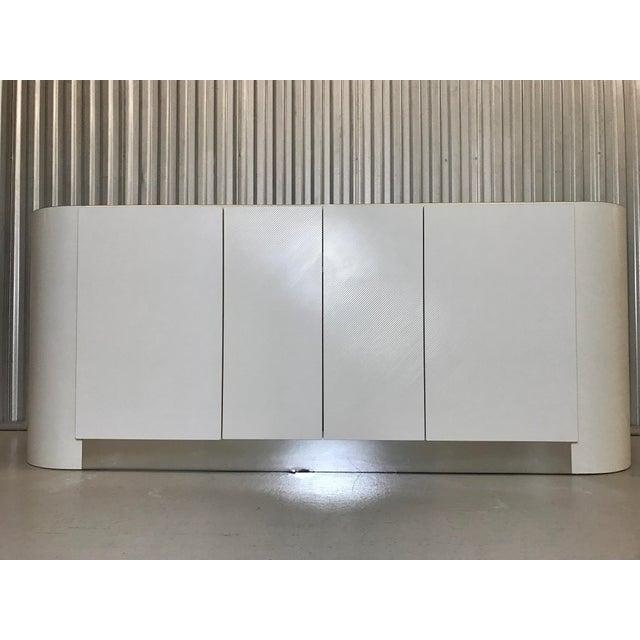 Karl Springer Karl Springer White Credenza For Sale - Image 4 of 11