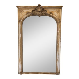Antique French Wood & Plaster Mirror