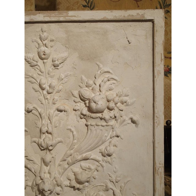 Traditional Plaster Bas Relief Cornucopia Panel From France For Sale - Image 3 of 9