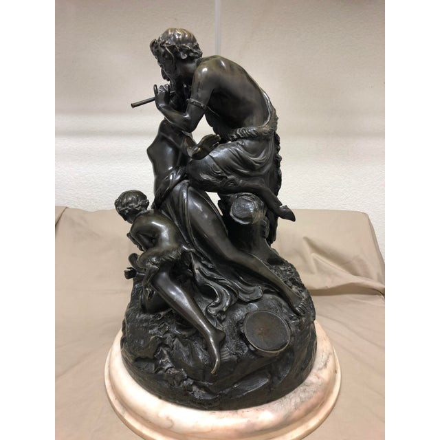 Late 19th Century Late 19th Century Antique Clodion French Figural Bronze Sculpture For Sale - Image 5 of 11